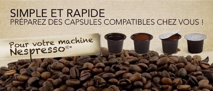 Capsule compatible nespresso capsuline