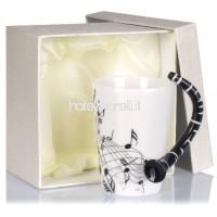 Tasse en céramique en forme de clarinette - Motif de clarinette blanche 0 2l - Tasse idéale comme cadeau - Grinscard B00G3CA4QE
