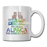 Arc-en-ciel toujours être vous-même Pirate Alpaca Special Coffee Tea Mug. Cadeau d'anniversaire pour les hommes et les femmes maman papa soeur copain B07K9G3KNS