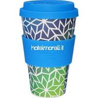 Ecoffee Cup Stargate 340 2 grammes 340 ml. Tasse de café en bambou réutilisable? Modèle de tasse à café bleu et vert réutilisable B076KYSCDG