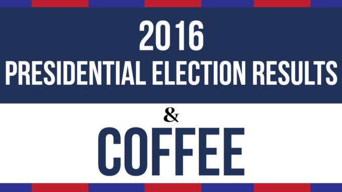 <pre>Cafés contre les résultats de l'élection présidentielle de 2016