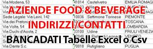 Base de données Base de données excel xls csv Données Courriel Adresses Entreprises Aliments Boissons Boissons Table Field records