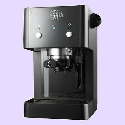 RI8423 / 11 Gaggia Gran Style Barre de café noire, poudre à expresso et dosettes