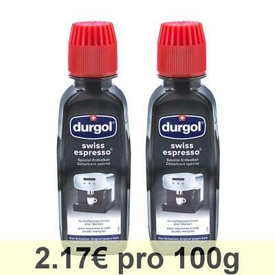 Durgol Machines à café liquides pour le détartrage d'espresso suisse, 1 paquet, 2 x 125 ml