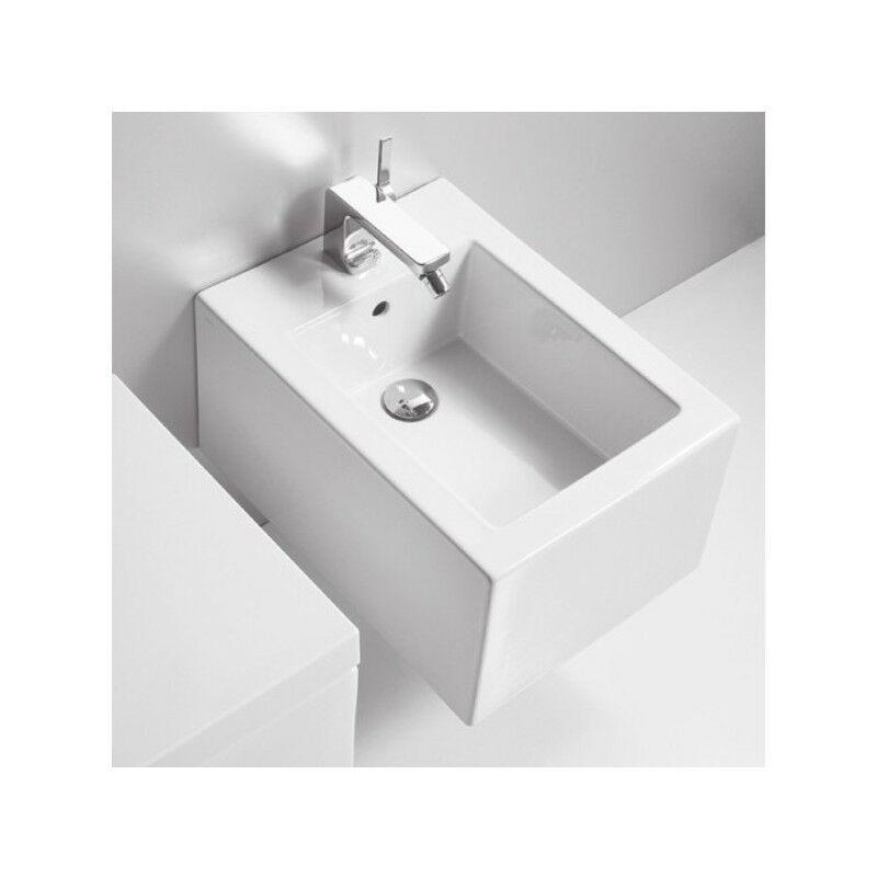 Simas Suspendu Sanitaire FROZEN FROZEN FROZEN WC + Siège de toilette + Bidet 1 Trou Blanc 51df60