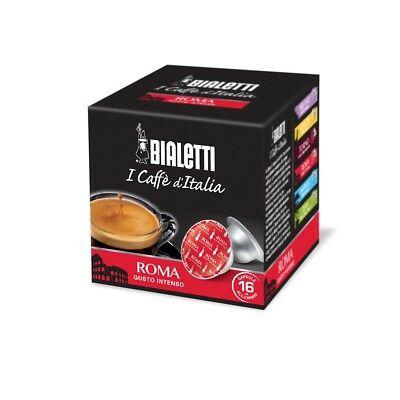 16 capsules de café espresso au goût intense Bialetti Roma - Smart tazzissima - Rotex
