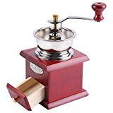 【LUMIÈRE ET PORTABLE Ce moulin à café manuel ne nécessite pas de charge électrique ni de batterie, un cadeau idéal pour les amateurs de café et les hommes d'affaires à tout moment pour savourer une tasse de café.