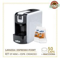 KIT Machine à café Lavazza EP MINI Espresso Point col.Bianco + 50 Capsules ESPRESSO CREMOSO