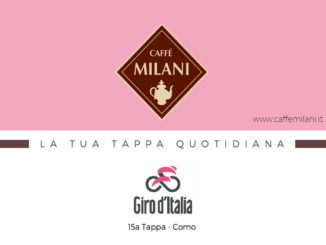 Le bateau Caffè Milani accueille la caravane du Giro d'Italie de Côme
