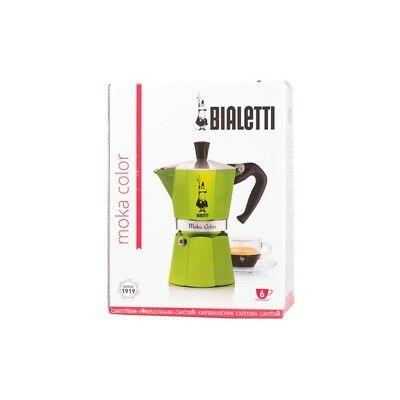 """BIALETTI Machine à café expresso / expresso """"Moka Color"""" 6 tz, coloris vert"""