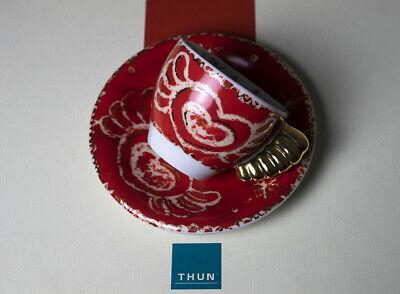 Tasse à café à la volée Thun, édition limitée 2009, manche en or pur