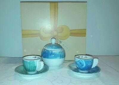 THUN Set 2 tasses à espresso avec sucrier aigue-marine