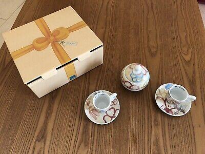 Thun set 2 tasses à café espresso + sucrier - Neuf - Emballage d'origine