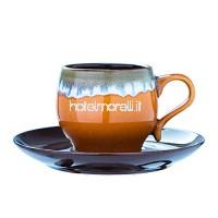 Tasse à café et plat en céramique peints à la main avec tasse en céramique à glaçage pour convertisseur. C'est une cuillère c. B07P52RHYT