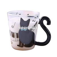 Rose-bleu tasse tasse de café tasse de lait tasse de thé tasse de thé Kitty chat mignon Chat Creative Piano B07H9ZB63X