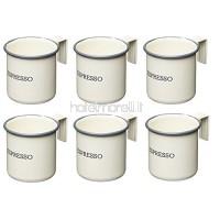 Kitchencraft Living Tasses à café 75 ml Nostalgia (2,5 oz) (ensemble de 6), couleur émaillée: crème 7 x 5 x 5 cm B078KQKXGZ