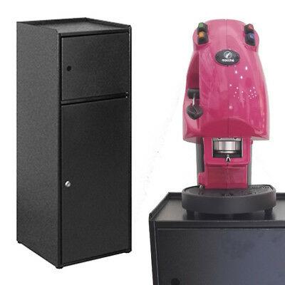 Armoire en métal noir Porte de machine à café Lavazza New Break Shop