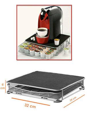 Bac à dosettes pour distributeur de dosettes à café contenant en métal 30 60 places