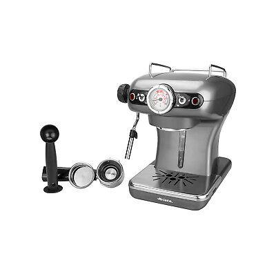 Cafetière à expresso Vintage grise Ariete 900 watts 0,9 litre