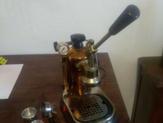 """Machine à café professionnelle """"LA PAVONI"""" en laiton et cuivre vintage - EUR 49.00"""