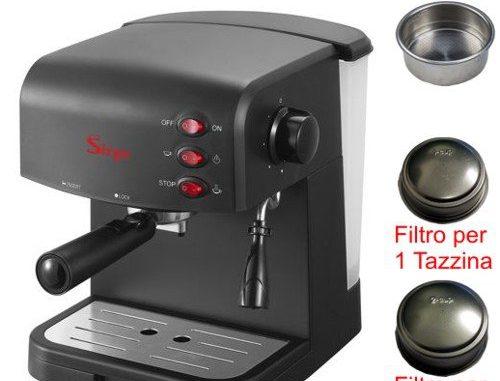 Sirge CREMAEXPRESSO-C Manuel Machines Expresso et Cappuccino Pompe Italienne Chaudière 15 bars et 850 Watt (MODÈLE COMPLET AVEC 2 FILTRES POUR 1 ou 2 Tasses de café)