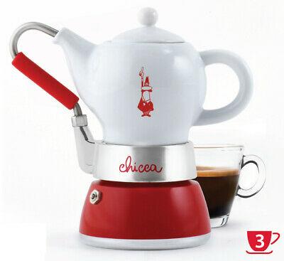 BIALETTI | La Chicca | Reliure à café en porcelaine Moka 3 tasses pour cafetière