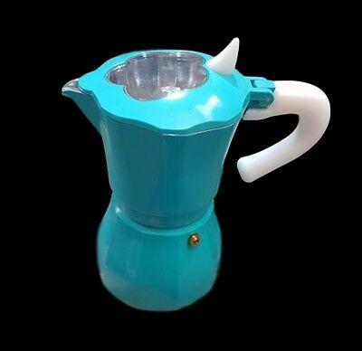 Moka Cafetière Cafetière Espresso Napolitaine 3 Tasses Azzurra dfh
