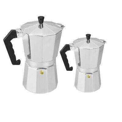 2pcs Café Moka Maker Pot Acier Poêle À Café Espresso Au Lait