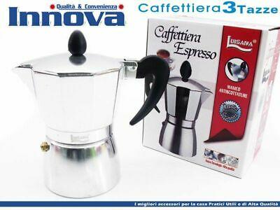 Cafetière Moka Cafetière Espresso Napolitaine Mesure 3 tasses hmj