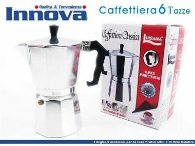 Cafetière Moka Cafetière Espresso Napolitaine Mesurer 6 tasses hmj