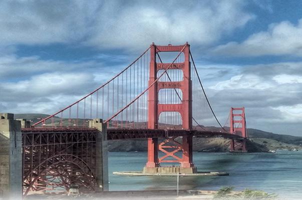 Le Golden Gate Bridge, symbole de la ville (ph. Federica Maule)