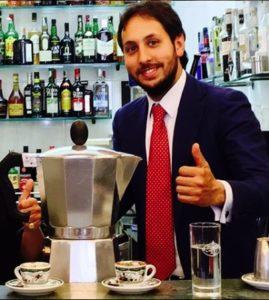 Michele Sergio directeur de Caffè Gambrinus