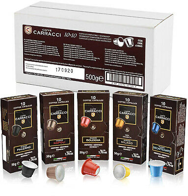 Coffee Carracci Kit 100 Capsules Capsules Nespresso compatibles, assorties
