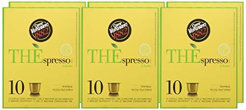 Caffè Vergnano 1882 THÈspresso Capsules Thé Compatible Nespresso, Citron - 6 unités de 10 capsules (total 60)