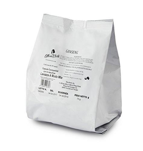 ODC MADE IN ITALY Kit composé de 100 CAPSULES SOLIDES DE GINSENG Compatible avec les machines à café Lavazza A Modo Mio.