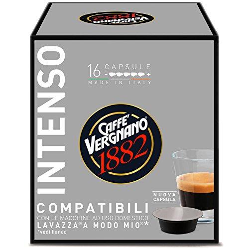 Caffè Vergnano 1882 Capsules de café compatibles Lavazza A Modo Mio, Intenso - 8 unités de 16 capsules (total 128)