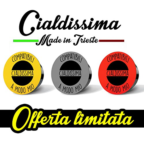100 CAPSULES Café compatible Cialdissima LAVAZZA A MODO MIO! BARRE DE LIGNE EXPRESSO! TROIS SAVEURS MIXTES!