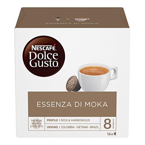 NESCAFÉ DOLCE GUSTO Essence de café espresso Moka, 3 sachets de 16 gélules (48 gélules)