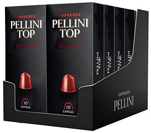 Pellini Caffè, Espresso Top Pellini 100% arabica, compatible Nespresso, 12 boîtes de 10 capsules, 120 capsules