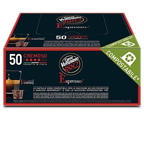 Caffè Vergnano 1882 Espresso Crémeux, 50 Capsules, Compatible Nespresso