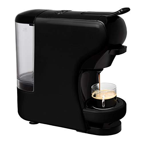 Machine à café espresso italienne IKOHS - Cafetière multi-capsules 3 en 1 Nespresso, Machine à café espresso, 0,7 litre, 19 bars, 1450 W noir