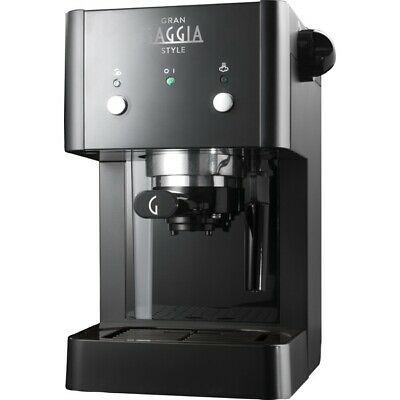 Machine à café Gaggia RI8423 / 11 style Gran Gaggia avec distributeur de vapeur noir