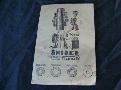 Joints d'enveloppe d'origine machine à expresso Snider vintage vieux café