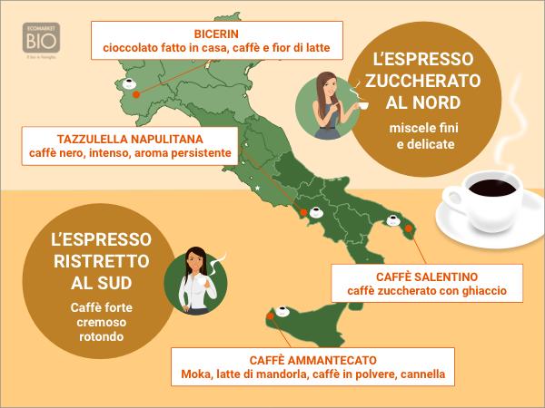 Italie carte consommation de café biologique