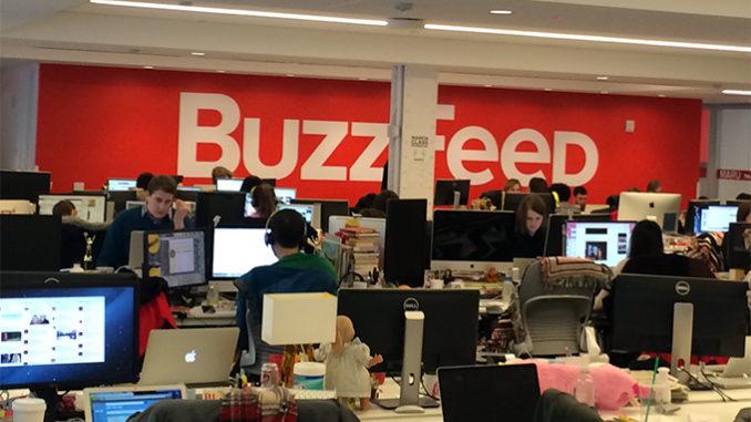 La redazione di BuzzFeed a New York.
