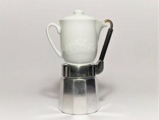 Machine à café Vintage cafetière expresso pichet en porcelaine Mulino Bianco des années 80 - 45,00 EUR