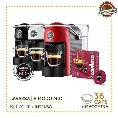Kit Machine à Café LAVAZZA JOLIE A Modo Mio Rouge / Blanc / Noir + INTENSE 3