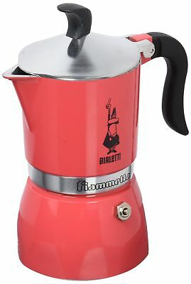 Bialetti 0005342 Moka Fiammetta, Cafetière à expresso, Aluminium, Rouge, 3 tasses