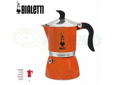Cafetière Bialetti Fiammetta Infinity 3 tasses Orange Moka Poignée Orange