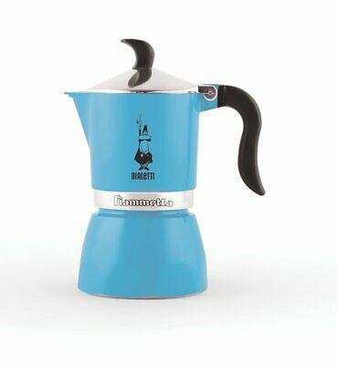 Bialetti 0004631 Cafetière Espresso Moka Fiammetta Azurro Fluo Aluminium
